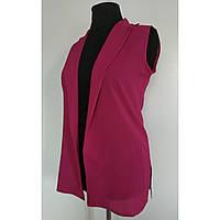 Женская накидка летняя жилетка-безрукавка розовая 46 р. кардиган.