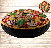 Подушка-пуфік Піцца з грибами 45х45 см.