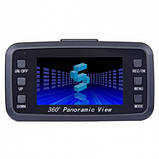 Автомобильный видеорегистратор 360' DVR H-6000 С камерой заднего вида, фото 4