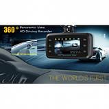 Автомобильный видеорегистратор 360' DVR H-6000 С камерой заднего вида, фото 6