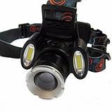 Ліхтарик налобний Police BL-865 T6 COB, фото 2