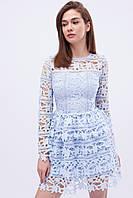"""Нарядное ажурное платье с пышной юбкой - голубое """"XS"""" (14389.1.1)"""
