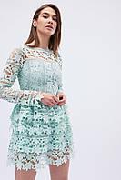 """Нарядное ажурное платье с пышной юбкой - мятного цвета """"XS"""" (14389.2.1)"""