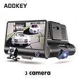Универсальный видеорегистратор DVR T763 на 3 камеры 4.0 дюймовый IPS экран, фото 5