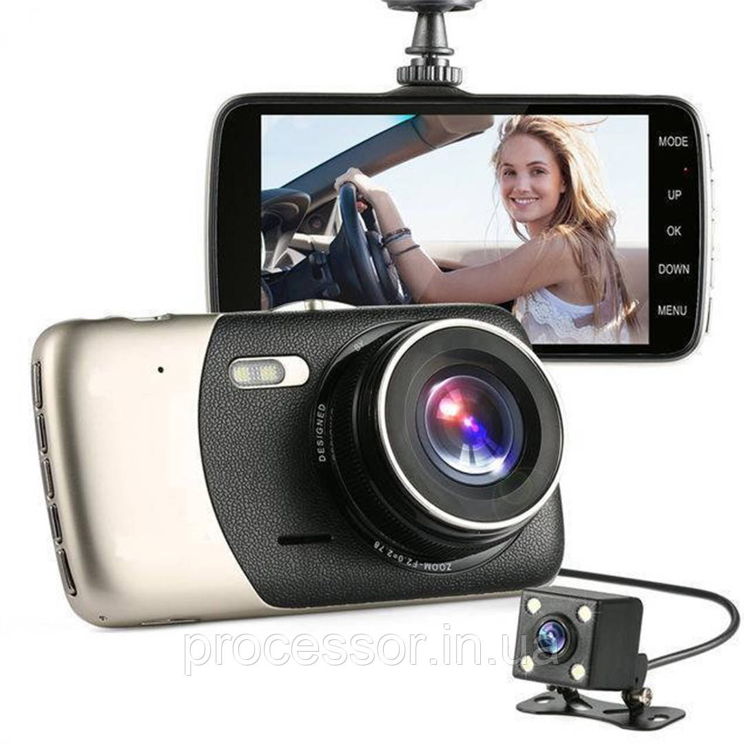 Автомобільний Відеореєстратор Full Hd з камерою заднього виду DVR CD 812