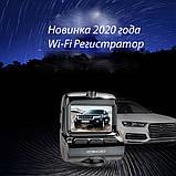 Преміальний Відеореєстратор в автомобіль DVR 7312-V1 WIFI з двома камерами, фото 2