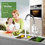 Проточний електричний водонагрівач Water Heater Digital Міні бойлер з LCD дисплеєм (RX-005), фото 5