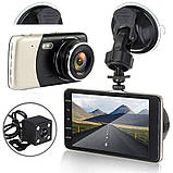 Автомобильный Видеорегистратор Full Hd с камерой заднего вида DVR CD 812, фото 8