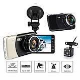 Автомобильный Видеорегистратор Full Hd с камерой заднего вида DVR CD 812, фото 10