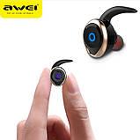 Спортивные вакуумные блютуз наушники беспроводные AWEI T-1 Twins Earphones Bluetooth затычки, фото 3