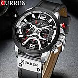 Часы Curren 8329 Premial wach Black-Silver с титановым корпусом 100% Оригинал!, фото 2