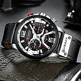 Часы Curren 8329 Premial wach Black-Silver с титановым корпусом 100% Оригинал!, фото 3