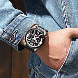 Часы Curren 8329 Premial wach Black-Silver с титановым корпусом 100% Оригинал!, фото 4