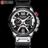 Часы Curren 8329 Premial wach Black-Silver с титановым корпусом 100% Оригинал!, фото 5