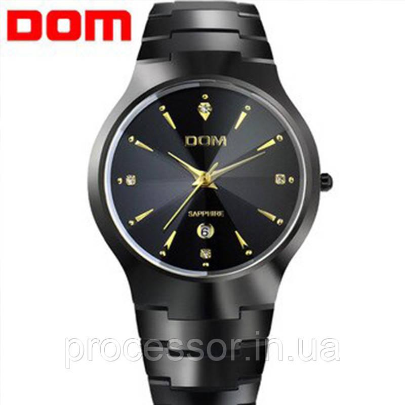 Чоловічі кварцові годинники Dom Будинок з вольфрамової сталі (Чорний, Срібло)
