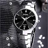 Чоловічі кварцові годинники Dom Будинок з вольфрамової сталі (Чорний, Срібло), фото 2
