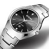 Чоловічі кварцові годинники Dom Будинок з вольфрамової сталі (Чорний, Срібло), фото 3