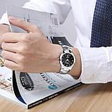 Чоловічі кварцові годинники Dom Будинок з вольфрамової сталі (Чорний, Срібло), фото 4