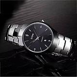 Чоловічі кварцові годинники Dom Будинок з вольфрамової сталі (Чорний, Срібло), фото 6