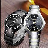 Чоловічі кварцові годинники Dom Будинок з вольфрамової сталі (Чорний, Срібло), фото 7