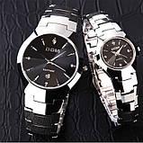 Чоловічі кварцові годинники Dom Будинок з вольфрамової сталі (Чорний, Срібло), фото 8