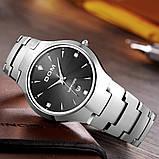 Чоловічі кварцові годинники Dom Будинок з вольфрамової сталі (Чорний, Срібло), фото 9