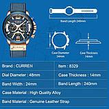 Годинник Curren RUNNING wach Blue-Gold з хронографом стильні годинники, фото 4