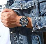 Годинник Curren RUNNING wach Blue-Gold з хронографом стильні годинники, фото 5