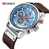 Водонепроникні Годинники Curren 8291 з хронографом Топ бренд класу люкс, фото 4