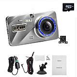 """Відеореєстратор для автомобіля Globus+ Full HD 4"""" LCD WDR Premium Class з виносною камерою заднього виду, фото 2"""