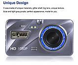 """Відеореєстратор для автомобіля Globus+ Full HD 4"""" LCD WDR Premium Class з виносною камерою заднього виду, фото 4"""