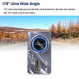 """Відеореєстратор для автомобіля Globus+ Full HD 4"""" LCD WDR Premium Class з виносною камерою заднього виду, фото 6"""