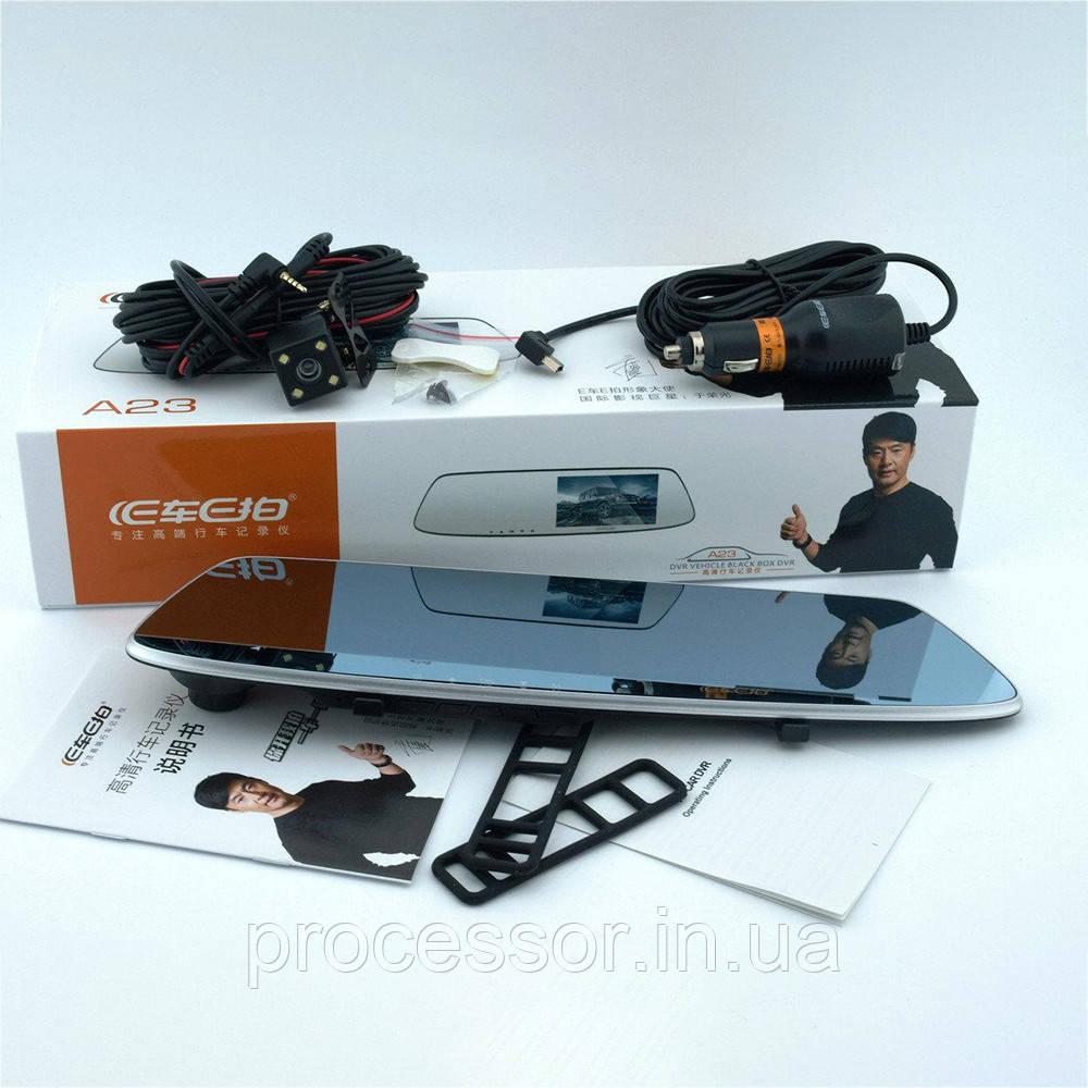 Японский Видеорегистратор-зеркало заднего вида с камерой заднего вида S-3 CAR Mirror DVR 4,3' + Парктроник