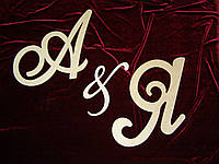 Буквы А & Я (высота 44 см), декор