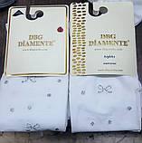 Белые капроновые колготки с рисунком для девочек TM DBG оптом, Турция р.6-8 лет (111-123 см), фото 2