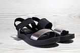 Черные женские босоножки на танкетке.Резинки. Размеры 36-41, фото 3