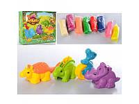 Игровой набор пластилин с формочками-динозаврами