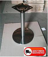 Опора стола Тахо высота 72 см d40 см полированная нержавеющая сталь, для бара, кафе, ресторана