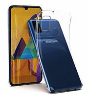 Чехол для Samsung Galaxy M21 M215F силиконовый прозрачный ультратонкий (самсунг м21)