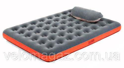 Велюровый двуспальный матрас 203*152*22 см, BESTWAY с подушкой 67703