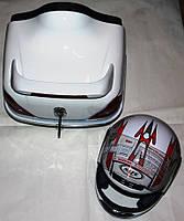 Кофр багажник Мерседес с шлемом белая