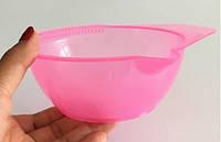 Парикмахерская профессиональная мисочка смешивания красок для волос розовая