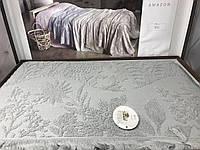 Простынь плед махровая с бахромой