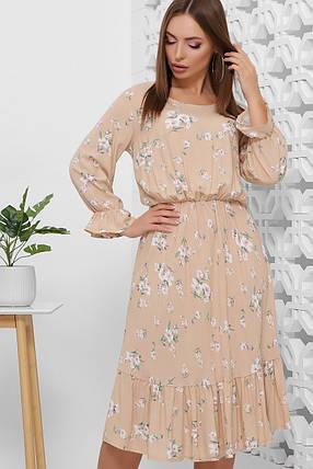 Платье женское летнее романтичное штапель цветочный принт, фото 2