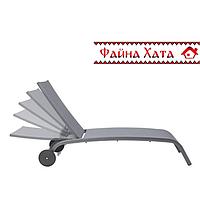 Шезлонг/лежак стационарный на колесах, темно-серый, фото 1