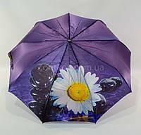 "Складной женский зонтик сатин полуавтомат цветок от фирмы ""Fiaba"", фото 1"