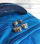 Детский ортопедический рюкзак с пеналом, школьный портфель ранец для мальчика 7-8-9 лет, синий-голубой, фото 3