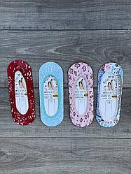 Жіночі сліди бавовна Modal з цікавими візерунками та малюнками 35-40 12 шт в уп кольорове асорті