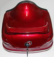 Кофр багажник Мерседес с шлемом красная