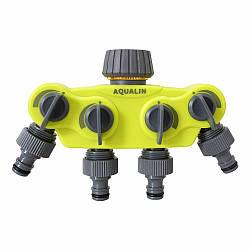 Пластиковый сплиттер на 4 выхода Aqualin 27224